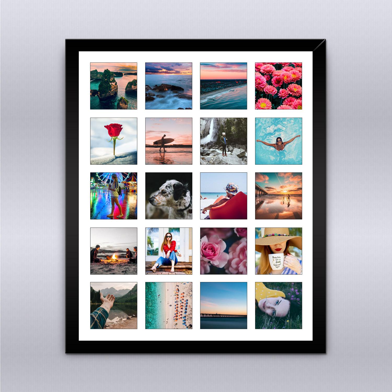 Cuadro Instagram - Tus recuerdos en un bello cuadro enmarcado en madera