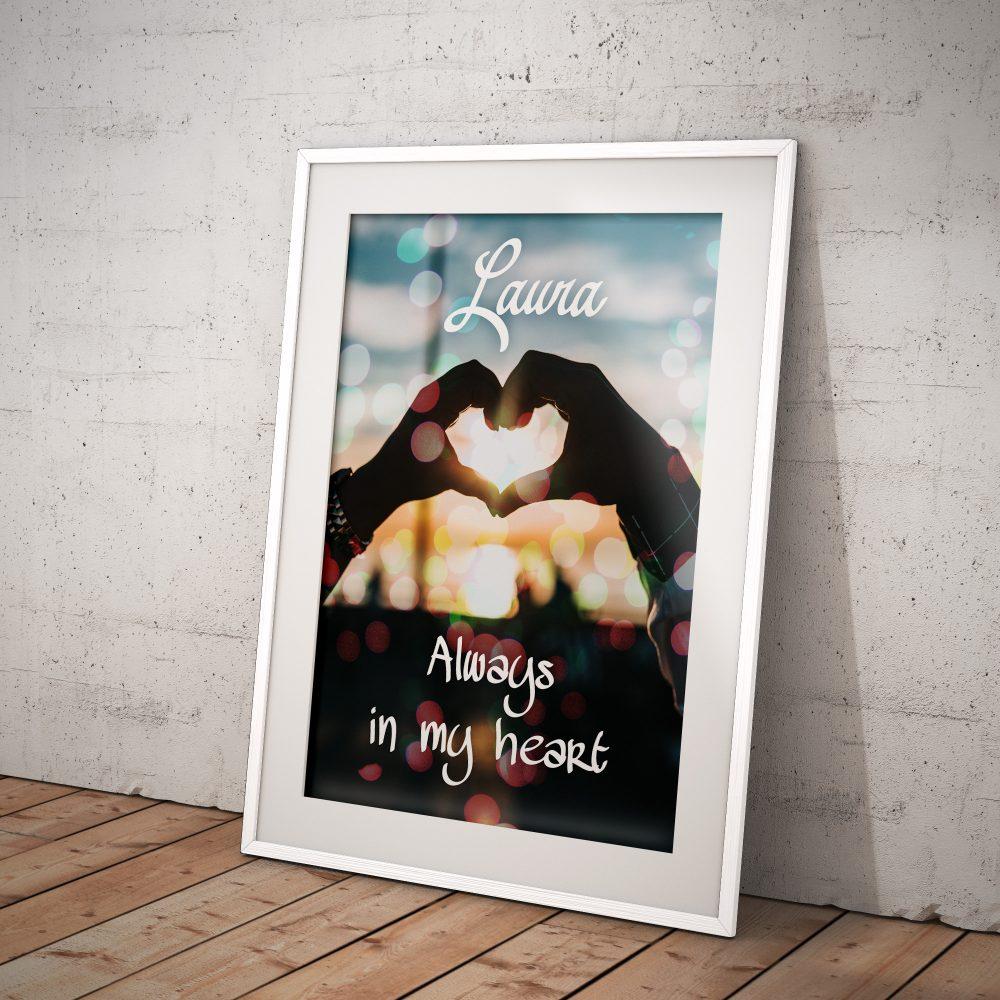 Cuadro personalizado Always in my Heart - ParedMágica.com ...